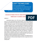 IEEE 2014 JAVA PARALLEL DISTRIBUTION PROJECT A System for Denial-Of-Service Attack Detection Based OnMultivariate Correlation Analysis