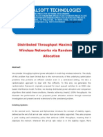 IEEE 2014 JAVA PARALLEL DISTRIBUTION PROJECT Distributed Throughput Maximization in Wireless Networks via Random Power Allocation
