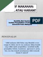 Aditif Makanan, Halal Atau Haram