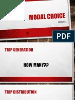 Modal Choice