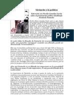 """""""Nietzsche y la Política"""" Una entrevista al filósofo Nicolás González Varela"""