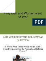 why men and women went to war