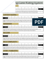 Role Playing Game Rating Sheet (6430694)