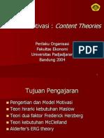 4.Teori Motivasi,Content Theories