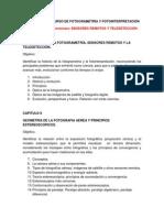 Programa Del Curso de Fotogrametría y Fotointerpretación