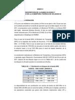 Descripción de La Banda Elegida y Cáluclo de La Cobertura Teórica de Un ENodo B