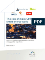 The Role of Micro CHP in a Smart Energy World