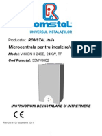 Visionii24se Manual Tehnic Visionii24se-Instalare, Intretinere