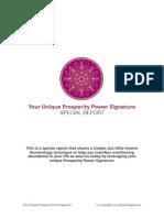 Prosperity Power Signature