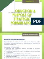 Strategic Management Module - 1