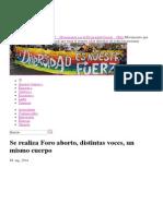 Se Realiza Foro Aborto, Distintas Voces, Un Mismo Cuerpo_MUMS __ Movimiento Por La Diversidad Sexual __ Chile