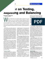 Testing, Adjusting & Balancing - ASHRAE