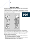 How to Replace a Light Switch - For Dummies