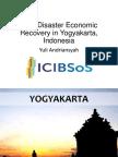 Post-Disaster Economic Recovery in Yogyakarta, Indonesia