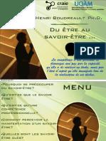Du être au savoir-être ... - Henri Boudreault.pdf