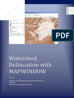 Mapwindow Watershed delineation