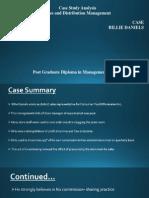 Billie Daniels Case Analysis