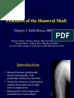 U04 Fxs of Humeral Shaft