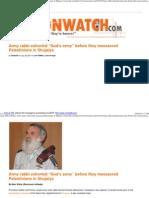 Army Rabbi Exhorted _God's Army_ Before They Massacred Palestinians in Shujaiya _ Loonwatch