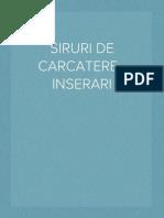 SIRURI DE CARCATERE - INSERARI