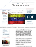 CIA Plans to Overthrow Venezuela Gov't via University Groups, Mass Media - News - Politics - The Voice of Russia_ News, Breaking News, Politics, Economics, Business, Russia, International Current Events, Expert Opinion, Podc