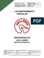 Pl-gbs-01 Plan de Mantenimiento Vehicular