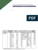 Tabela-matriz da 1.ª sessão em formato de tabela
