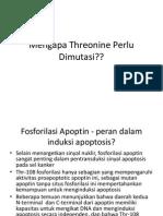 Mengapa Threonine Perlu Dimutasi