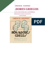 Theodor Gomperz - Los Pensadores Griegos Tomo II