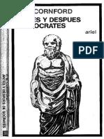 Antes y después de Sócrates. Cornford, F.M.