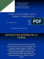 Diapositivas de Estructura Interna de La Tierra