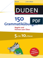 Duden 150 Grammatikübungen 5 10KL