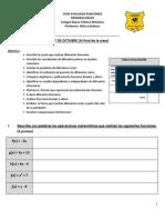 Guía Funciones Primero Medio