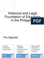 Historical and Legal Foundation of Education in The
