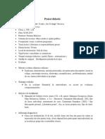 Proiect Didactic-Furtuna Maricica