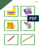School Supplies Flashcards