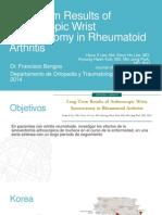 Long-Term Results of Arthroscopic Wrist Synovectomy in Rheumatoid Arthritis