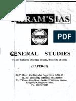 SR  SIELENT  FEDURES  OF  INDIAN  SOCIETY ,  DIVERSITY  OF  INDIA   PAPER=II
