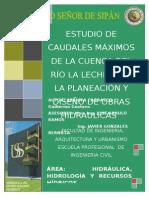 PONENCIA.ESTUDIO DE CAUDALES MAXIMOS DE LA CUENCA DE RIO LA LECHE 2009.doc
