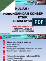 Kuliah WAJ 3106 - M1 (Hubungan Etnik Di Malaysia)