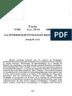 Intersubjetividad en Heidegger