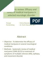 Efficacy of Medical Marijuana