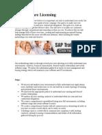 SAP Software Licensing