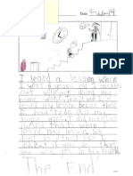 Student 1 Writing Sample