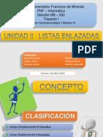 Listas Enlazadas Exposicion CUFM Daniel Erazo