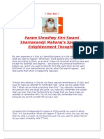 Spiritual Enlightenment Thoughts by Param Shradhey Shri Swami Sharnanandji Maharaj in english