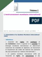 (155770093) Thème I- L_environnement Monétaire International
