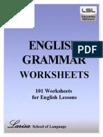 English grammar worksheets