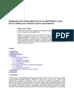 Simulación de semiconductor de SI