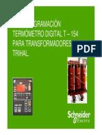 Mini Guia_Programación Termómetro Digital T-154 Para Transformadores TRIHAL